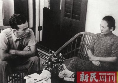 斯诺对宋庆龄(右)进行多次专访.